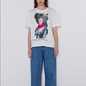 Zara Marie Antoinette print T-shirt